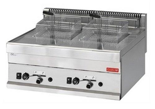 Gastro-M Fryer Gas Ausführung 8 + 8 Liter