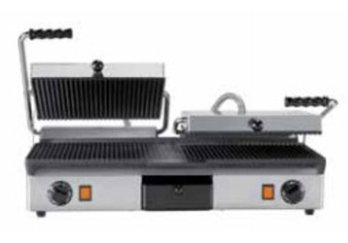 Milan Toast CONTACT GRILL CAST IRON - DOUBLE | Smooth + ribbed and Ribbed + ribbed