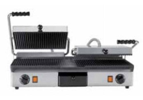 Milan Toast KONTAKT GRILL CAST IRON - DOUBLE | Glatt + gerippt und gerippt + gerippt
