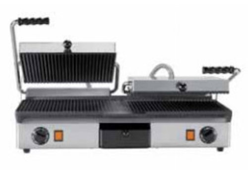Milan Toast Contact grill Cast iron Double smooth + ribbed and ribbed + ribbed