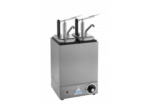 Bereila Verwarmde Sauzenbar met 2 Dispensers - 2 x 3,5 Liter