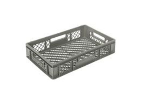plastic crate stackable gray 60 x 40 | 7 formats