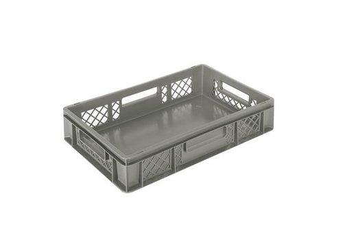 Perforierte Kiste | Grau 60 x 40 cm 6 Formate