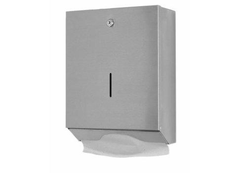 HorecaTraders Stainless steel towel dispenser Large