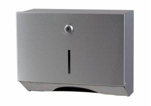 HorecaTraders Stainless steel towel dispenser Small