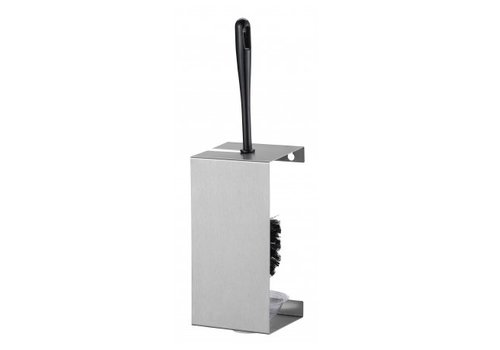 HorecaTraders Stainless steel toilet brush holder