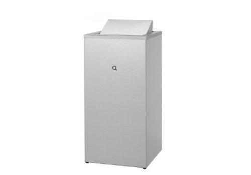 HorecaTraders RVS afvalbak 85 liter gesloten