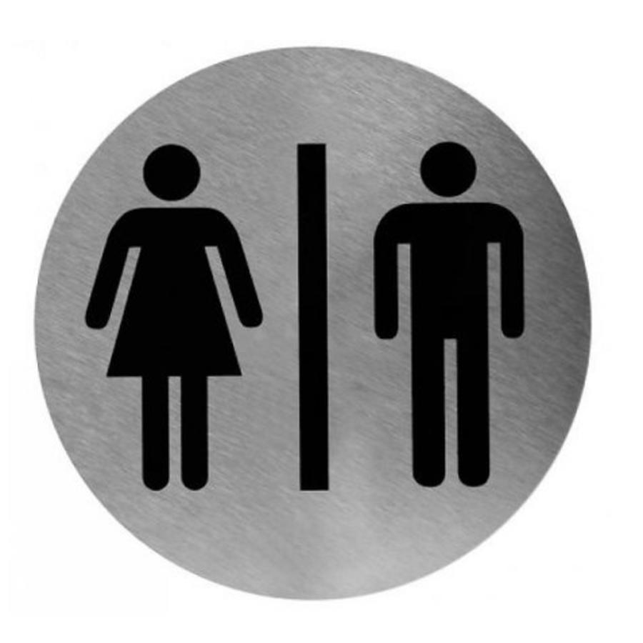 Pictogram Rond | Man/Vrouw | RVS