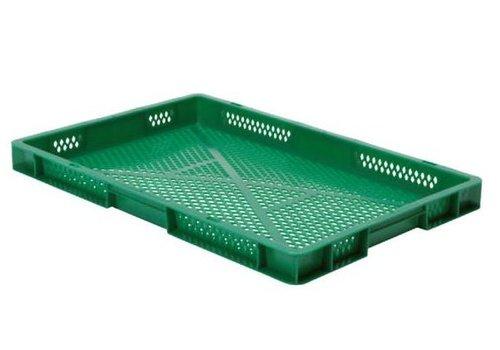 HorecaTraders Stapelbehälter aus Kunststoff | 60 x 40 cm | 5 Farben