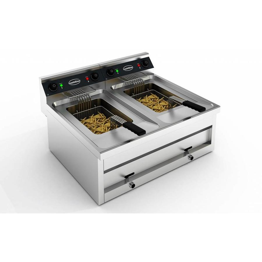 Electric table fryer 2x 12 liters. EXTREMELY POWERFUL!