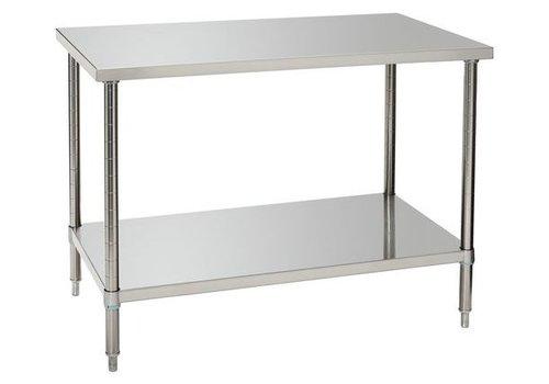 Bartscher Werktafel met Onderschap | 120 x 70  x 86-90 cm