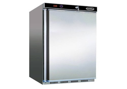 Combisteel Stainless steel refrigerator 120 liters - Static with fan