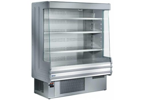 Diamond Cooled Wall Furniture with 4 shelves - Steel - Ventilated evaporator - 1500x750xh1820 mm