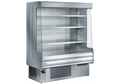 Diamond Wall fridge stainless steel with 4 shelves - stainless steel - 1200x750xh1820