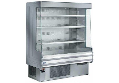 Diamond Wand Kühlschrank Edelstahl mit 4 Einlegeböden - Edelstahl - 1200x750xh1820