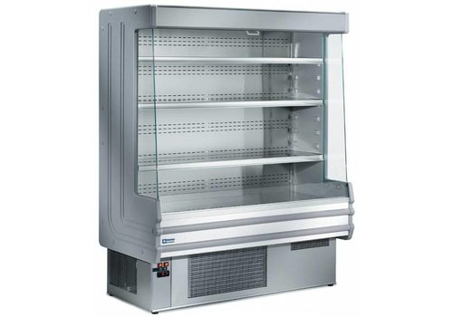 HorecaTraders Wall-mounted cooler with 4 shelves - stainless steel - 1000x750xh1820