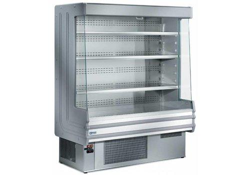 HorecaTraders Wandkühler mit 4 Fachböden - Edelstahl - 1000x750xh1820