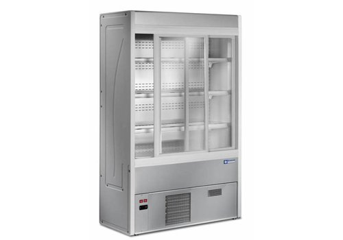 Diamond Wall fridge stainless steel with sliding glass doors - 1000x545xh1900 mm