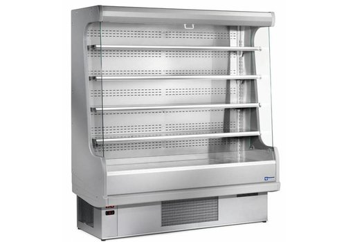 Diamond Wall cooling unit with 4 shelves - stainless steel / steel - gray - ventilated evaporator