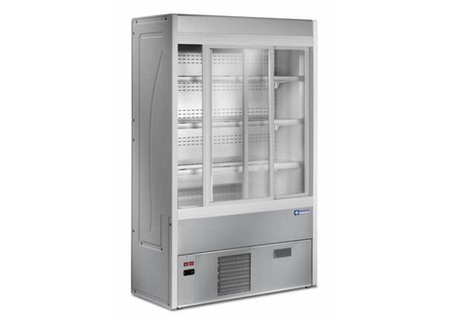 Diamond Cooled stainless steel wall unit with 4 shelves Ventilated evaporator 1200x545xh1900