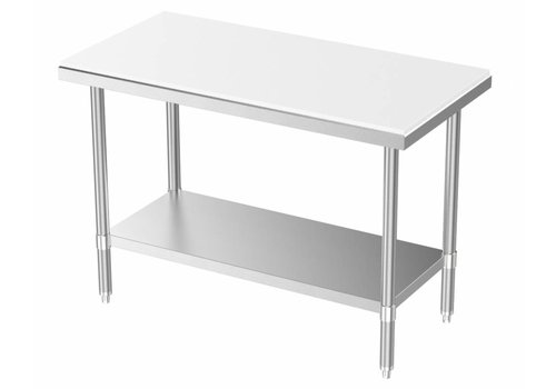 Combisteel Work table with bottom shelf 70 cm deep (3 sizes)