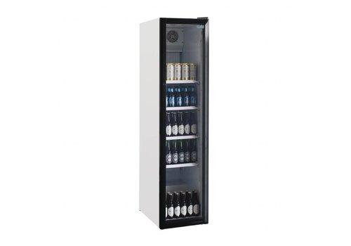 Polar Schmaler Flaschenkühlschrank mit Glastür | 45 cm breit | 300 Liter