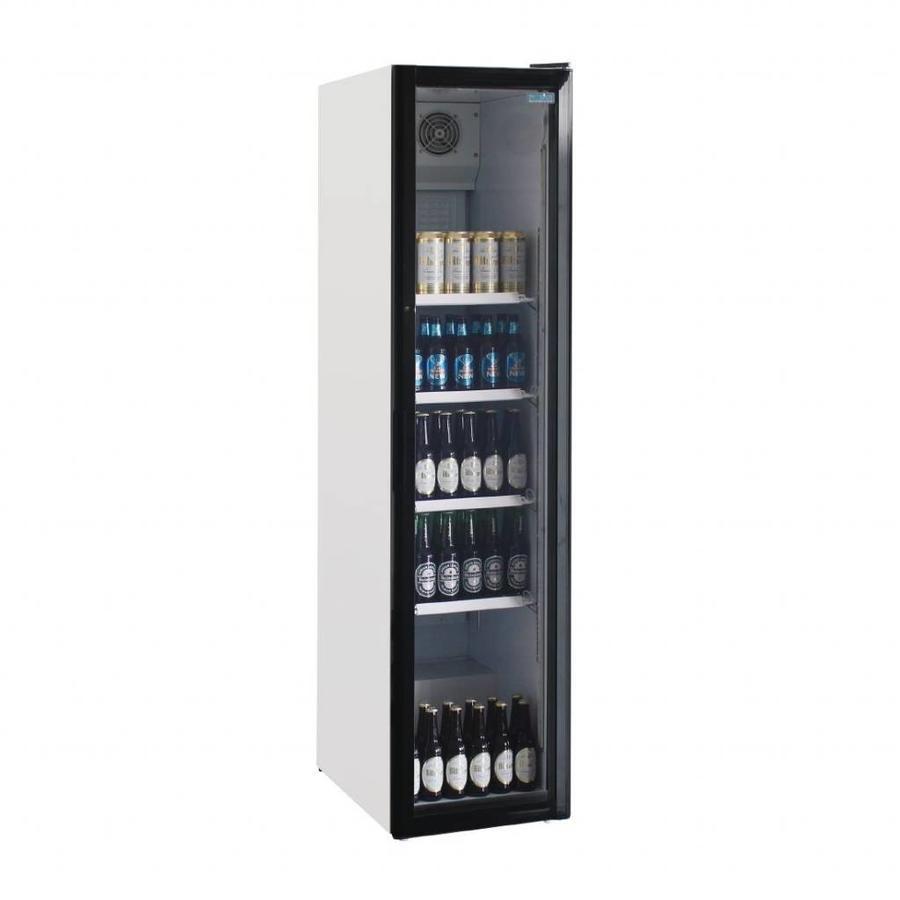 Narrow Bottle Fridge with Glass Door | 45 cm wide | 300 liters