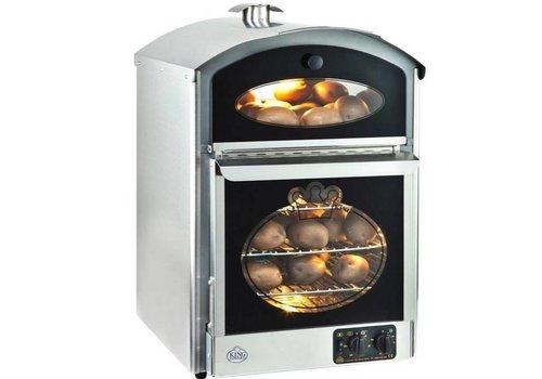 Neumärker Kartoffelofen aus Edelstahl 510 x 580 x (h) 750 mm | 60 + 60 Kartoffeln