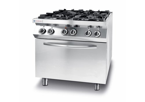 Hendi Gas cooker kitchen line 4 burner with electric convection oven gn 1/1