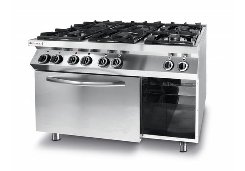 Hendi Gas cooker kitchen line 6 burner with electric convection oven gn 1/1
