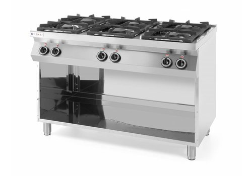 Hendi Gas stove kitchen line 6 burner, with conversion