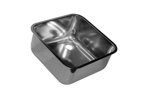 HorecaTraders Welding Sink aus Edelstahl Quadrat | 6 Formate