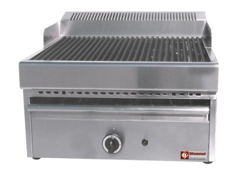 Diamond Steam grill Gas - Grate Cast iron - Table model - 330x470mm - 41x63x (h) 43cm