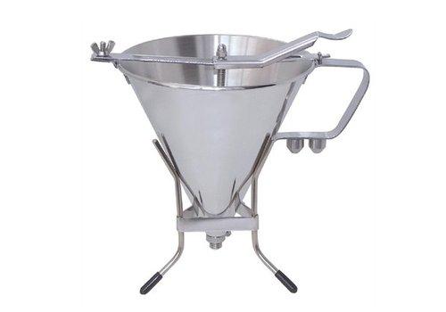 HorecaTraders Stainless steel dosing funnel 1,5ltr