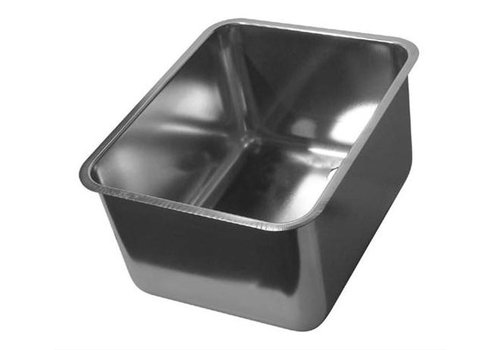 HorecaTraders Rectangular stainless steel sinks without overflow | 12 Formats