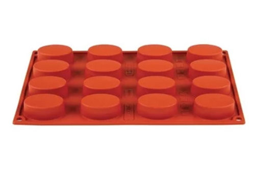 Pavoni Formaflex Backform aus Silikon 16 Ovale