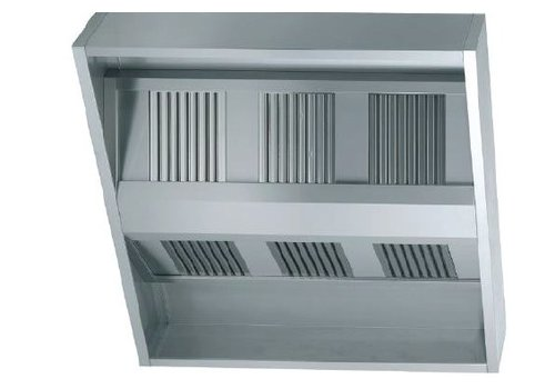 HorecaTraders Inox Extractor hood without Motor | 1500 Line