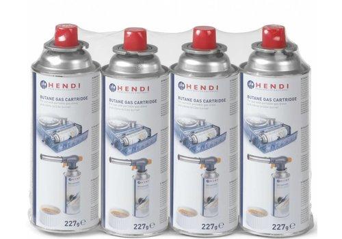 Hendi Butane Gas bottle 227 grams - 4 pieces