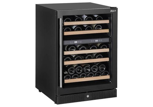 Hendi Wine cooler with two zones 155 liters