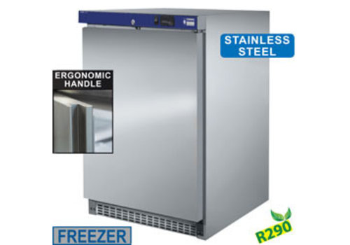 Diamond Small Freezer cabinet stainless steel | 155 liters