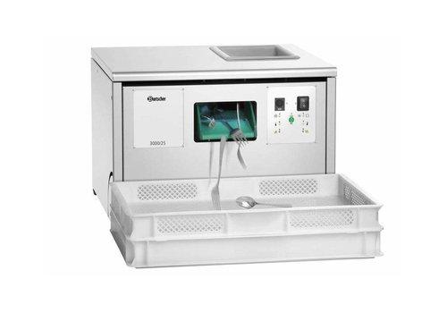 HorecaTraders Besteckmaschine aus Edelstahl Integrierte UV-Lampe Programmanzeigen (2 Formate)