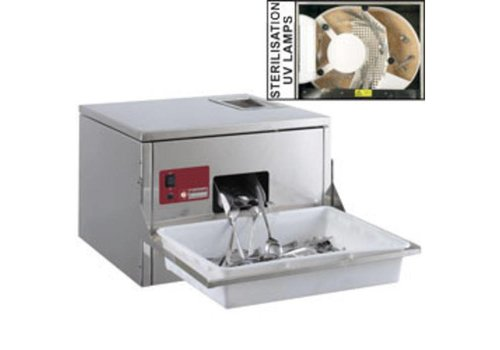 HorecaTraders Cutlery Polisher for cutlery 3000/3500 p / hour Table model 570x550xh400mm