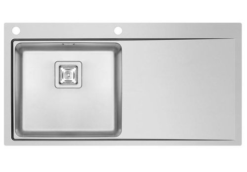 HorecaTraders RVS Spoeltafelblad | Spoelbak Links | 100 x 52 cm