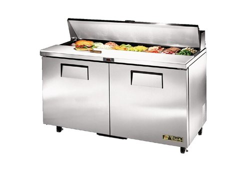 True 2 door saladette, 439 liters, comes with 16x1 / 6 GN containers