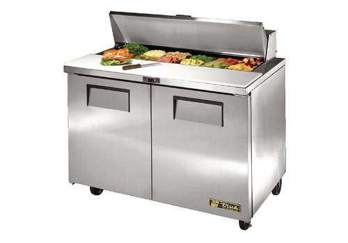 True 2 door saladette, 340 liters, comes with 12x1 / 6 GN containers