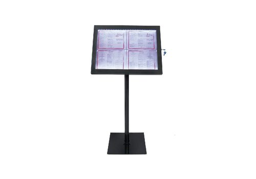Securit LED Display   Infotafel   schwarz