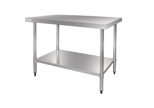 Vogue Stainless steel work table 70 cm deep 5 formats