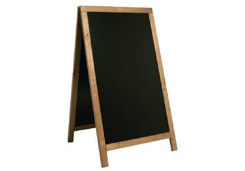 HorecaTraders Chalk Stoepbord Teak | 68x (H) 120cm