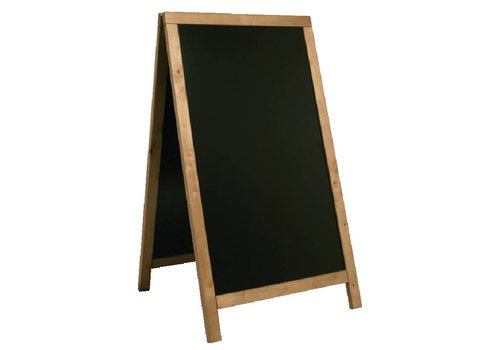 HorecaTraders Krijt Stoepbord van Teakhout | 68x(H)120cm