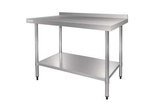 Vogue Workbench with edge stainless steel   5 Dimensions